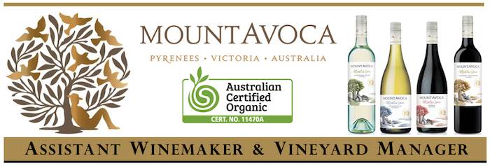 Assistant Winemaker & Vineyard Manager - Mount Avoca Winery