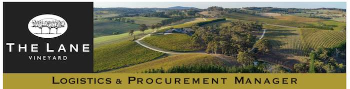 Logistics and Procurement Manager - The Lane Vineyard