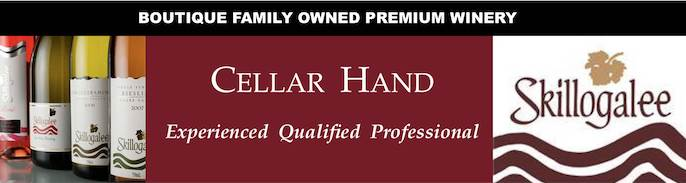 Cellar Hand (Permanent, Full-Time) - Skillogalee Wines